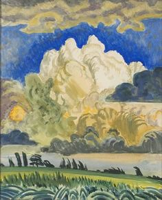 CHARLES BURCHFIELD The White Cloud, Salem (1917)