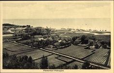 Ak Morskoje Pillkoppen Ostpreußen, Fischerdorf, Totalansicht, Feld... - 1136585