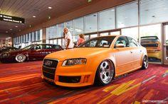 Audi Vinyl Wrapped in Orange.  Supercarsgarage.com