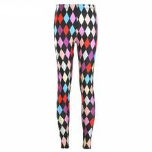 3406 Girl Colorful diamonds Jester joker Printed Elastic Slim GYM Fitness Women Sport Leggings Yoga Pants Trousers Plus Size Women's Sports Leggings, Printed Leggings, Women's Leggings, Pattern Leggings, Fit Women, Sexy Women, Pants For Women, Clothes For Women, Ladies Pants