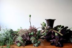 DIY: Smokebush Arrangement with Figs and Queen Anne's Lace