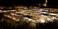 Marrakech souk all lit up