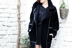 FRICHIC - Fall into Fall Week with H&M Studio AW14: The Suede Coat and Cage Heels