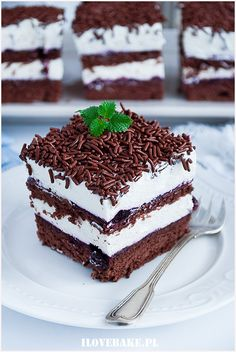 Porzeczkowiec - I Love Bake Tiramisu, Food And Drink, Tasty, Baking, Ethnic Recipes, Lion, Foods, Cakes, Leo