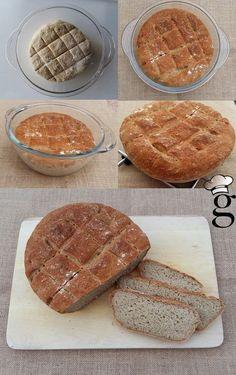 Pan de payés con trigo sarraceno. Sin gluten, sin lactosa.