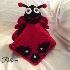 This is the second installment of the ladybug series. The first being the ladybug wall hanging. You will need the following to complete your project: Bernat satin: Crimson (4.5 ounces) Red heart soft touch: black (approx 2 ounces) white: small amount (eye patches and flower centers) 4 mm hook 12 mm safety eyes (if you are giving this to a child who is less than 3 years old, you may want to crochet the eyes for safety reasons) tapestry needle stitch marker polyester stuffing This pattern is…