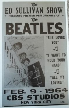 """""""The Beatles - Ed Sullivan Show Fantastic Glossy Art Print Taken from A Vintage Concert Poster by Design Artist Beatles Poster, Les Beatles, Beatles Art, Gig Poster, Tour Posters, Band Posters, Music Posters, Event Posters, Vintage Concert Posters"""