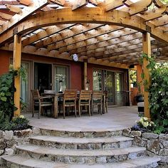 The wooden pergola is a good solution to add beauty to your garden. If you are not ready to spend thousands of dollars for building a cozy pergola then you may devise new strategies of trying out something different so that you can re Diy Garden, Pergola Kits, Outdoor Decor, Renaissance Gardens, Wooden Columns, Pergola Designs, Garden In The Woods, Pergola Plans, Wooden Garden