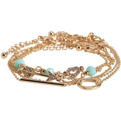 Aeropostale Glitzy Arrow Bracelet 5-Pack ($6.80) ❤ liked on Polyvore featuring jewelry, bracelets, mint sprig, polish jewelry, heart bangle, mint jewelry, pave jewelry and heart jewelry