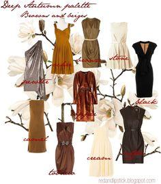 The Divas Clube : AS CORES CERTAS EM FUNÇÃO DO TOM E SUBTOM DE PELE ( PARTE 1) - Deep autumn palette - Browns and beiges.