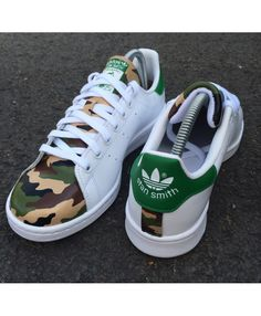 the best attitude 1d09c 7719c Adidas Stan Smith Armee Camo Chaussures Trainers Stan Smith Trainers, Adidas  Stan Smith, Stan