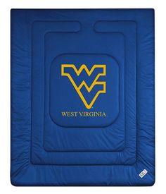 West Virginia Mountaineers Locker Room Bedding Comforter Blanket