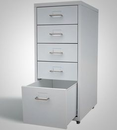 File Cabinet Drawer Mobile Storage Office Filing Cabinet Rails Folders 5 Drawer #FileCabinetDrawer