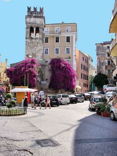 Summer in Corfu Town Corfu Greece