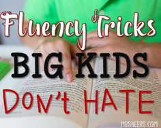 Teach Your Child to Read - 5 Fluency Tricks for BIG KIDS these tricks are for older students This will help children with accuracy and speed - Give Your Child a Head Start, and.Pave the Way for a Bright, Successful Future. Reading Help, Kids Reading, Reading Skills, Teaching Reading, Guided Reading, Teaching Ideas, Reading Resources, Teaching Tools, Reading Tutoring