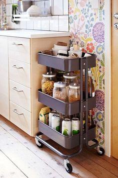 #White kitchen #Small kitchen ideas #House ideas #Kitchen island ideas #White kitchen cabinets #Kitchen storage ideas