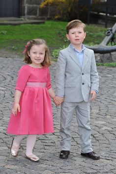 Prince Christian and Princess Isabella, children of Crown Prince Frederik and Crown Princess Mary of Denmark