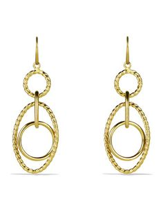 Mobile Small Link Earrings in Gold by David Yurman at Neiman Marcus.