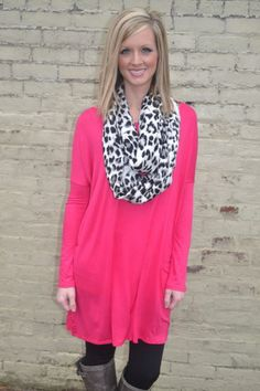Piko Style Tunic - Hot Pink: Abella Boutique