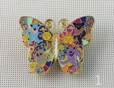 Grateful Dead Hat Pins Butterfly Bears Lighting Bolt Pin 2 1/3 Inch