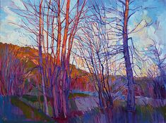 Winter Silhouette, an oil painting by Erin Hanson, a Fine Art America painter.