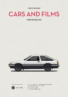 Poster of the car from Initial D. Illustration Jesús Prudencio. Cars And Films