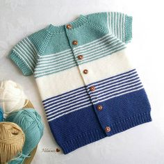 Knitting For Kids, Baby Knitting Patterns, Hand Knitting, Knitted Baby Clothes, Baby Cardigan, Blanket, Crochet, Tulum, Fashion