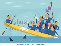 EQUIPOS-1 Illustration of the bad team work (Business Image #17) - stock vector
