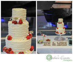 Weddings at Royal Submarine Museum / Wedding photographer Gosport / Mr & Mrs cake table / www.alishaseventsphotography.co.uk