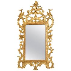 18th Century George III Giltwood Mirror | From a unique collection of antique and modern wall mirrors at https://www.1stdibs.com/furniture/mirrors/wall-mirrors/