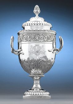 Stunning silver presentation urn by famed silversmiths, the Hennell Bros.