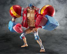 Figura One Piece. Franky Maximum Armored 23 cms, Excellent Model Limited P.O.P Megahouse Figura de 23cm del personaje de Franky, uno de los protagonistas del manga-anime One Piece.