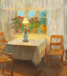 Anna Ancher painting -  Danish Artist, associated with the Skagen Painters