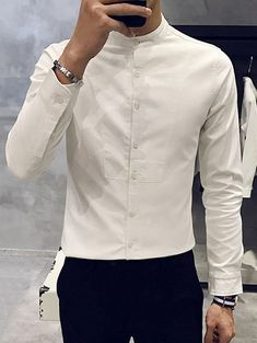 Fashion Pioneer with more than 200000 different style of clothes lower than average market price, offering Great customer service and shopping experience. Indian Men Fashion, New Mens Fashion, Men's Fashion, Formal Shirts For Men, Casual Shirts, Stylish Men, Men Casual, Kurta Men, Mandarin Collar Shirt