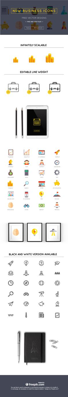 36 Free business icons set in Vector & PNG (2.3 MB) | creativenerds.co.uk | #free #vector #business #icons