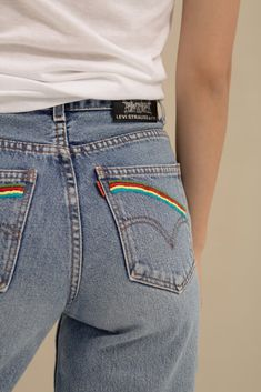 One of a Kind—Levi's Rainbow Jeans