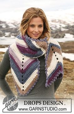 Craft Passions: Scarf with stripes # free crochet pattern