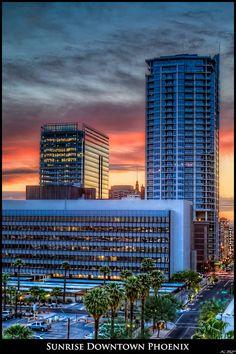 Sunrise Downtown Phoenix, Arizona