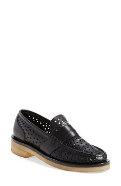 rag & bone 'Claredon' Perforated Penny Loafer (Women) available at #Nordstrom