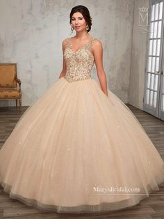 Beaded A-line Quinceanera Dress by Mary's Bridal Princess 4Q511