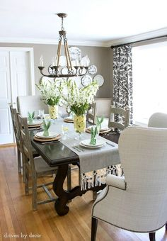 Driven By Decor dining room tour. Ballard Designs Chandelier
