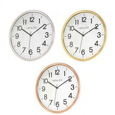New Henley Kitchen Wall Clock now available at exclusive prices!!  http://www.dkwholesale.com/catalog/product/view/id/12896/s/henley-33cm-kitchen-wall-clock-silver-brass-copper-hcw006/