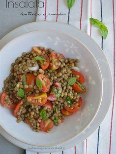 insalata di lenticchie e pomodori