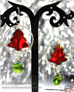 Decorate your ears for the holidays with these DiY Glowing Christmas Tree Earrings.