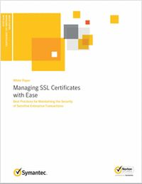 """""""Managing SSL Certificates with Ease""""  SSL certificates make it possible for users around the world to communicate sensitive information with the confidence that it is safe from malicious hackers."""
