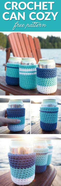 If you're going to have a few beverages, why not have crochet can cozy's around the cans to prevent your hands from getting cold and wet. Learn how here.
