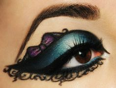 Bow eye makeup look. Cute ♥