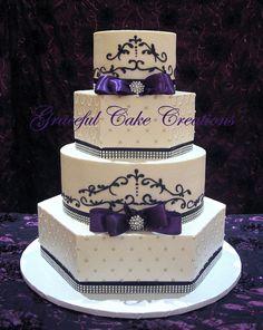 https://flic.kr/p/gPcneJ   Elegant White and Purple Wedding Cake