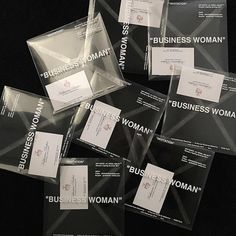 """""""Katherine Parker business cards ~ The invites to women's Off-White™ runway show. Egg Packaging, Skincare Packaging, Fashion Business Cards, Collateral Design, Business Invitation, Design Research, To Infinity And Beyond, Packaging Design Inspiration, Box Design"""