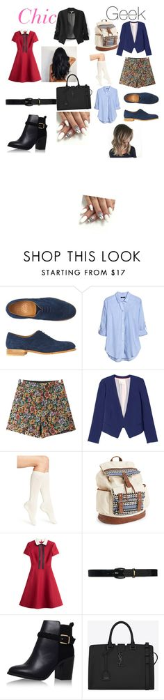 """""""geek and chic besties"""" by maryjsullivan on Polyvore featuring Toast, H&M, Chicnova Fashion, Rebecca Taylor, Calvin Klein, Aéropostale, Valentino, Lauren Ralph Lauren, Topshop and Yves Saint Laurent"""
